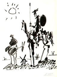 Don Quixote and Sancho Panza, by Pablo Picasso
